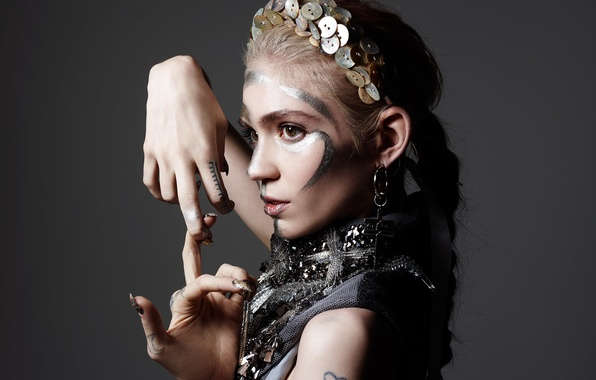 Picture decoration, style, makeup, hairstyle, photographer, outfit, singer, gesture, canadian, Hunger, Grimes, Rankin, Claire Boucher, Grimes