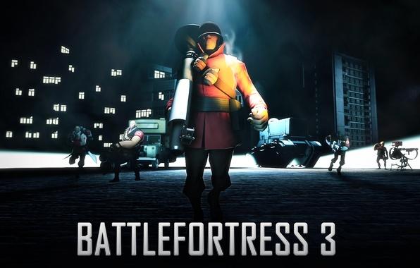 Picture battlefield, Team Fortress 2, art, fan, battlefortress 3