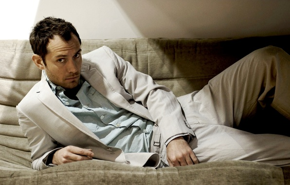 Picture look, light, costume, actor, male, shirt, Jude Law, Jude Law