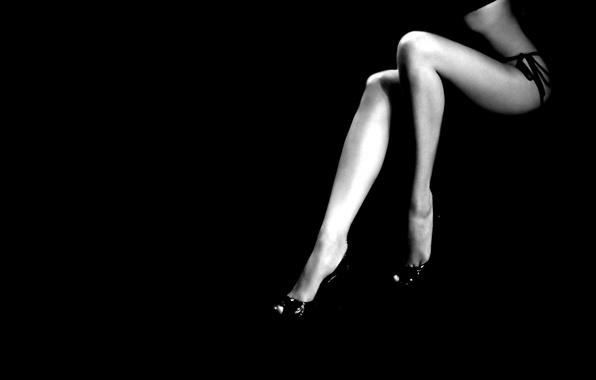 Picture background, feet, black and white, minimalism, Black, women's, slim