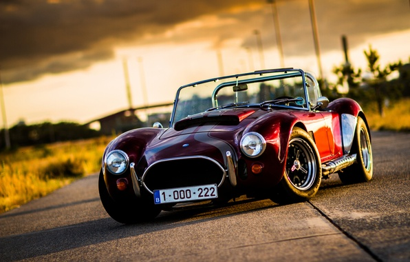 Picture road, the sky, light, Cobra