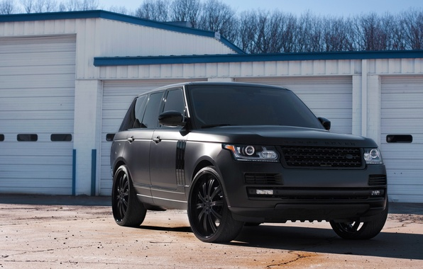 Picture shadow, land rover, range rover, the front, range Rover, land Rover, tinted, matte black, black …