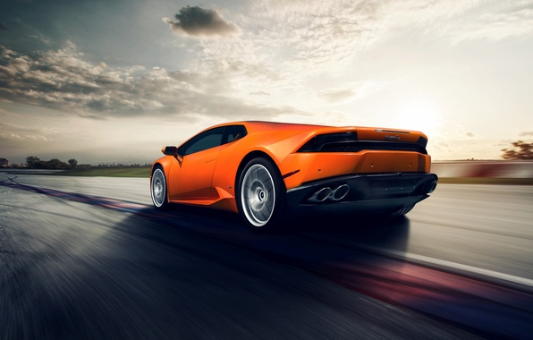 Picture car, lamborghini, in motion, rechange, huracan