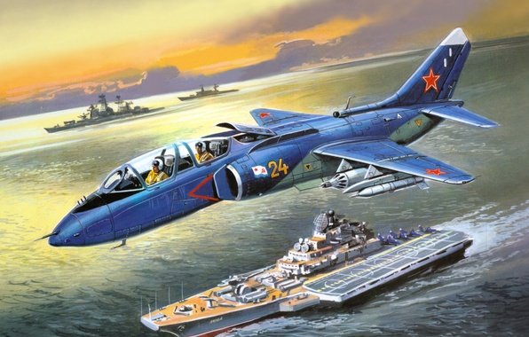 Picture Navy, attack, deck, Soviet, The Yak-38