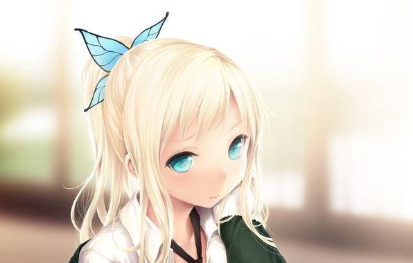 Picture butterfly, girl, barrette, ponytail, boku wa tomodachi ga sukunai, kashiwazaki sena