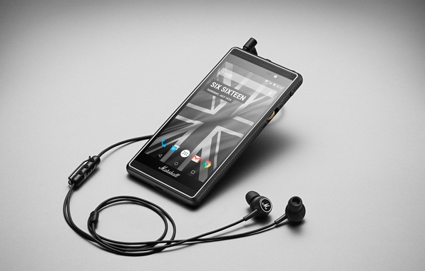Picture headphones, London, Smartphone, Marshall