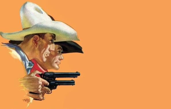 Picture revolver, wild West, cowboy, Stetson, The Wild West