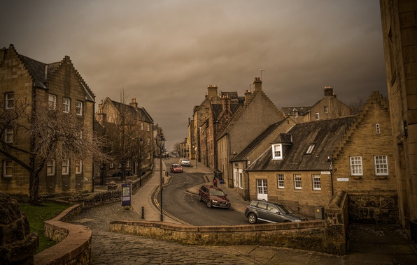 Picture road, machine, street, home, Scotland, Sterling, Bow Street