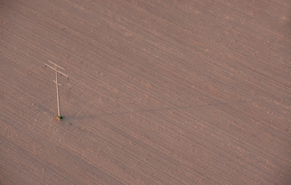 Picture field, post, arable land