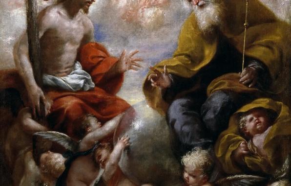 Picture picture, religion, mythology, Holy Trinity, Francisco Caro