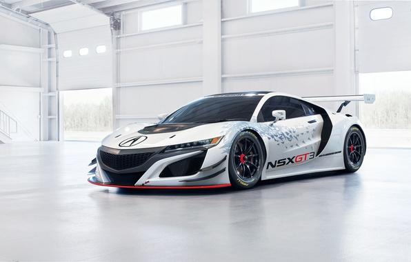 Picture supercar, Honda, Honda, GT3, Acura, Acura, NSX