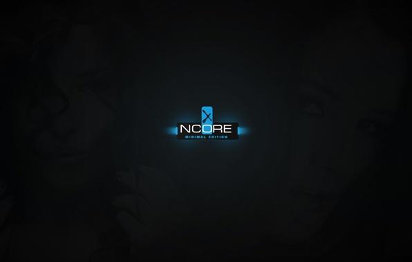 Picture light, girl, black, blue, ncore