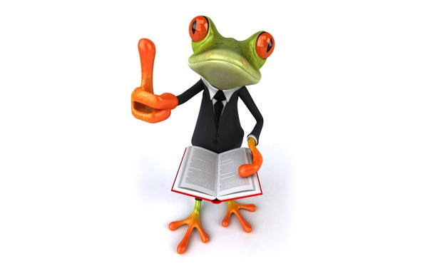 Picture frog, frog, book, funny, suit