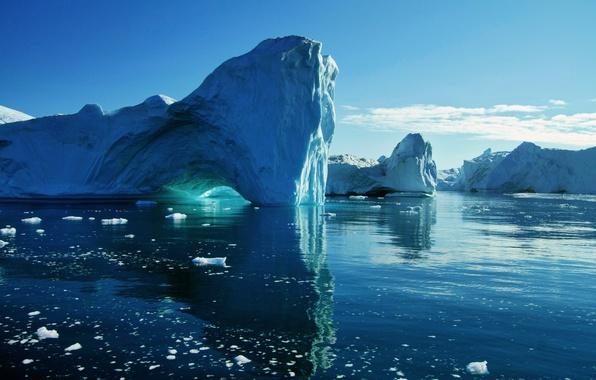 Picture ice, sea, water, glacier, iceberg