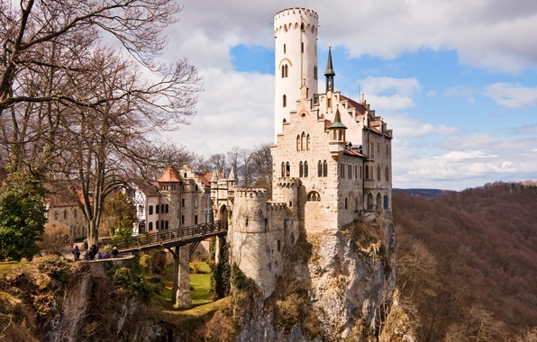 Picture Castle, Germany, the middle ages, Lichtenstein