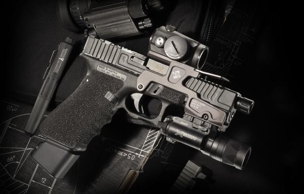 Photo Wallpaper Gun Background Glock 17 Austrian Self Loading