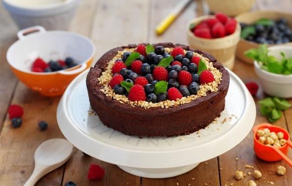 Picture berries, raspberry, pie, cake, cake, cream, dessert, currants, cakes, sweet, sweet, dessert, berries
