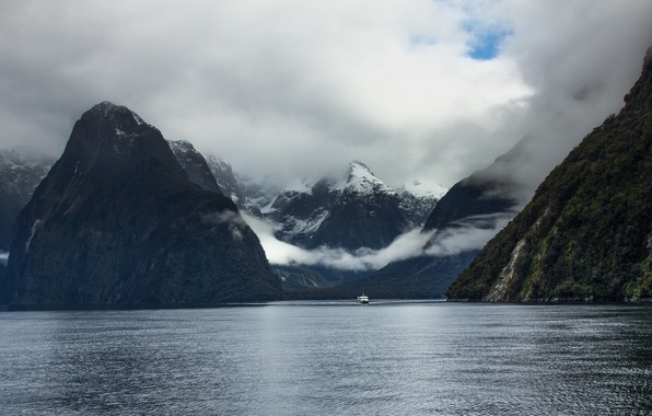 Picture New Zealand, New Zealand, Milford Sound, South island, South Island, the fjord Milford Sound, national …