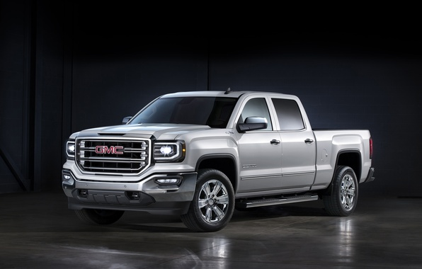 Picture pickup, GMC, Sierra, Crew Cab, 2015