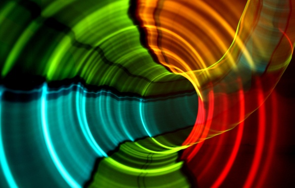 Picture light, line, color, ring, the tunnel, the volume, track