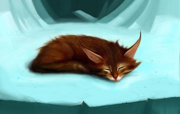 Picture ice, figure, Fox