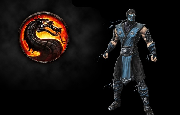 Picture fire, flame, ice, logo, game, fighter, dragon, xbox 360, mortal kombat, ninja, mk9, mortal kombat …