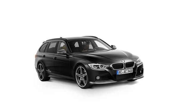 Picture black, BMW, BMW, white background, Black, universal, AC Schnitzer, F31, 3-Series