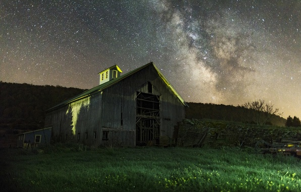 Picture Night, The barn, Zvezdnoe the sky