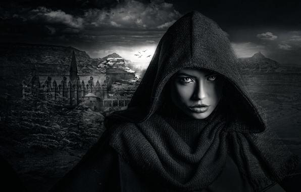 Picture girl, hood, Dark Castle, Joachim Bergauer