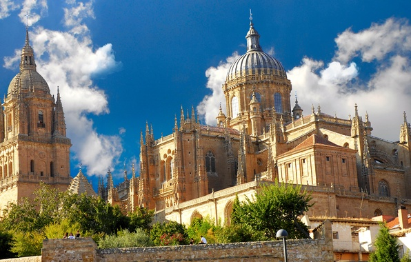 Picture landscape, the city, Gothic, Cathedral, architecture, Spain, cathedral, Spain, Spain, Salamanca, Salamanca, The Cathedral Of ...