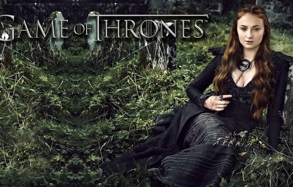Picture dress, fantasy, the series, brown hair, in black, Game of Thrones, Game of thrones, Sophie …