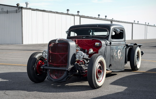 Picture retro, Ford, classic, the front, hot-rod, classic car