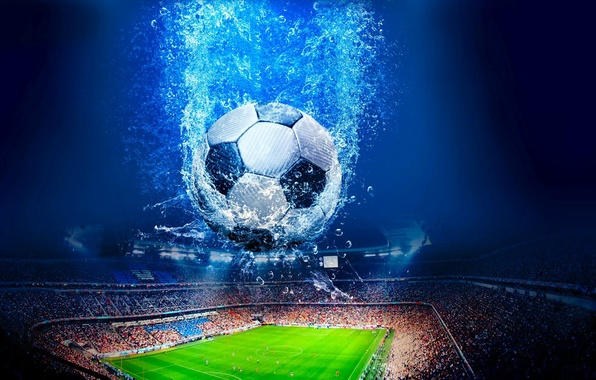 Picture field, football, the ball, stadium