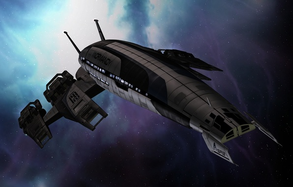 Picture space, ship, space, Normandy, mass effect, normandy, mass effect, sr-2