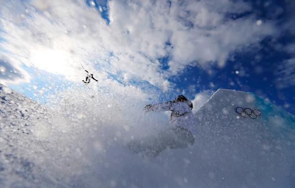 Picture the sky, the sun, snow, ice, sky, snow, sun, training, Sochi, ski, 2014, training, Sochi, …