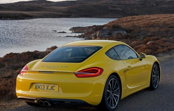 Picture machine, Porsche, Porsche, rear view, Cayman S