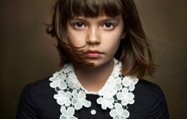 Picture portrait, girl, brown-eyed, Alexander Vinogradov, beautiful portrait