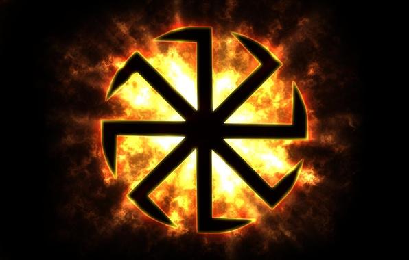 Picture the sun, Flag, Russia, Russian, Rus, Slavs, Banner, Solstice, Slavic, Kolovrat, Aryan, Paganism, brace, Rusich, …