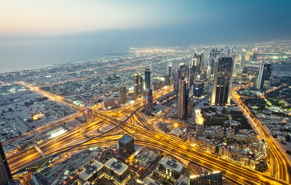 Picture the city, skyscrapers, Dubai, Dubai, UAE, Dubai