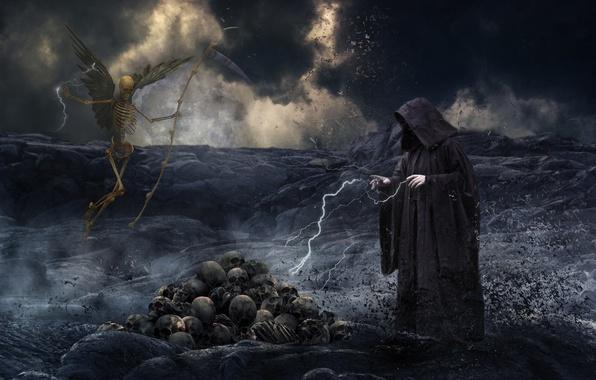 Picture people, skeleton, skull