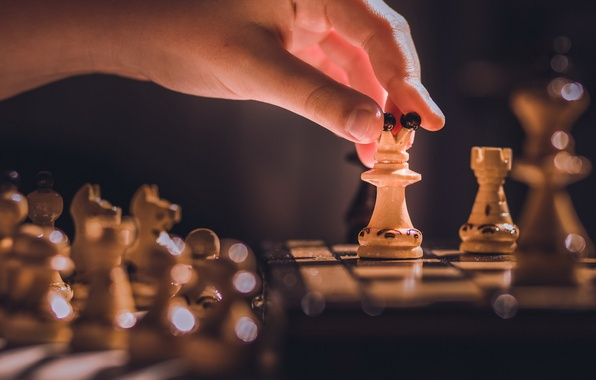 Picture background, the game, hand, chess