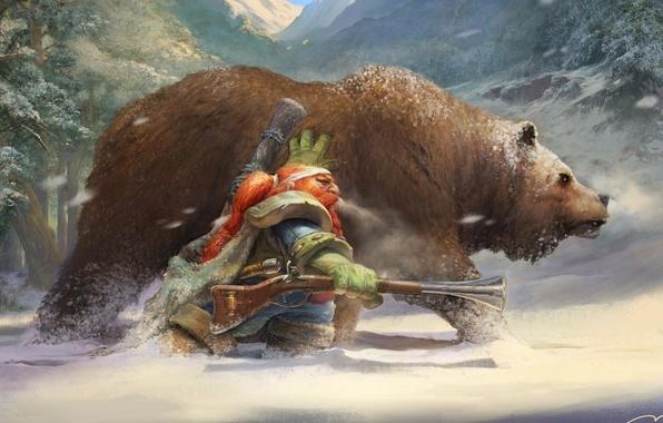 wallpaper winter bear dwarf musket images for desktop. Black Bedroom Furniture Sets. Home Design Ideas