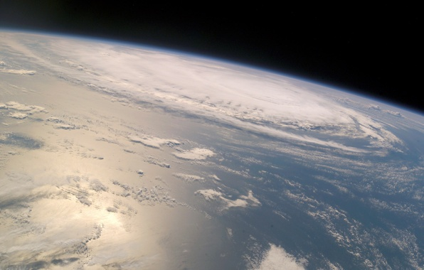 Picture earth, planet, orbit, cyclone