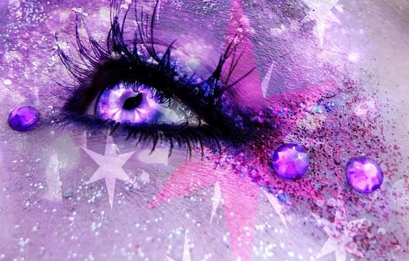 Picture girl, eyes, art, fantasy