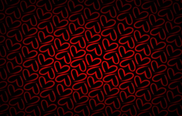 Picture red, background, heart, texture, hearts