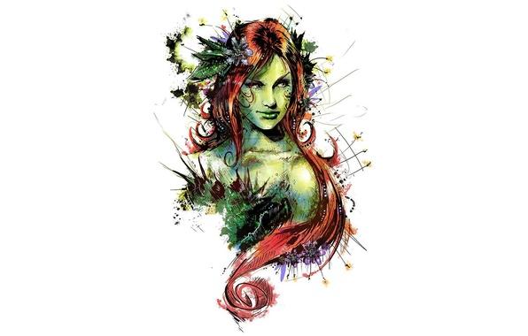 Picture art, comics, redhead, dc universe, poison ivy
