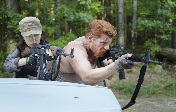 Picture weapons, The Walking Dead, The walking dead, Michael Cudlitz, Abraham, Christian Serratos, Rosita
