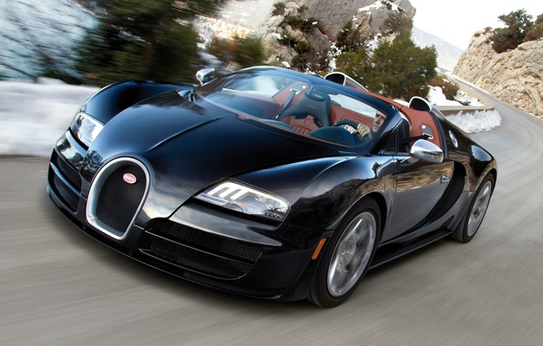 Picture Roadster, Road, Machine, Bugatti, Bugatti, Veyron, Movement, Machine, Veyron, Black, Car, Car, Cars, Black, Cars, …