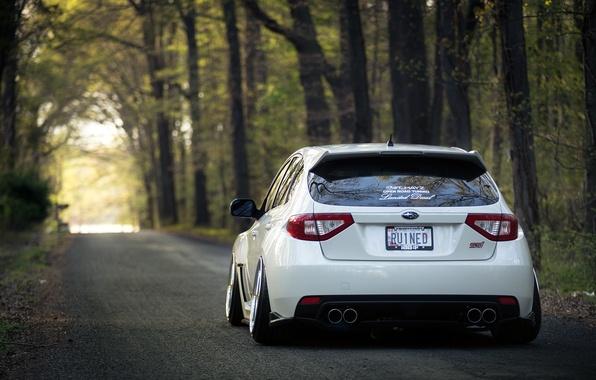 Picture Subaru, Impreza, WRX, STI, White, Subaru, Impreza, Stance