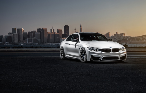 Picture BMW, City, Car, Sky, Sunset, White, Collection, Aristo, F82
